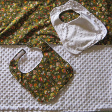 Baby bib and blanket set