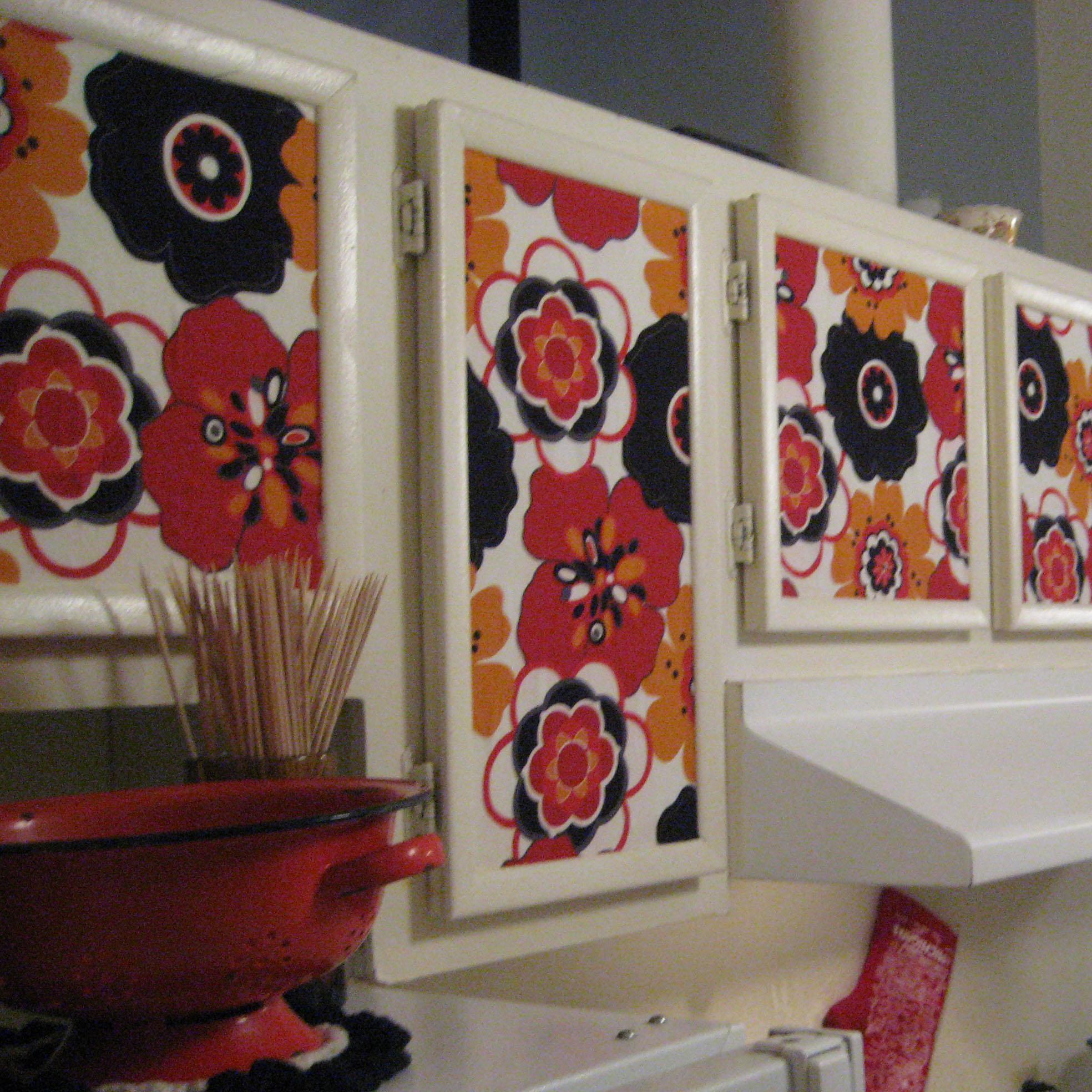Starch Fabric Kitchen Cabinets Sew Becky Jo