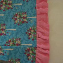 ruffle sewn on
