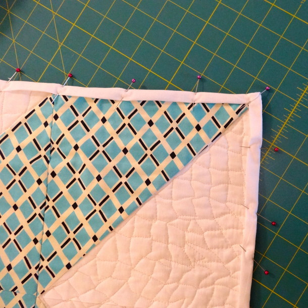 Pinning Down the Wrap Around Binding
