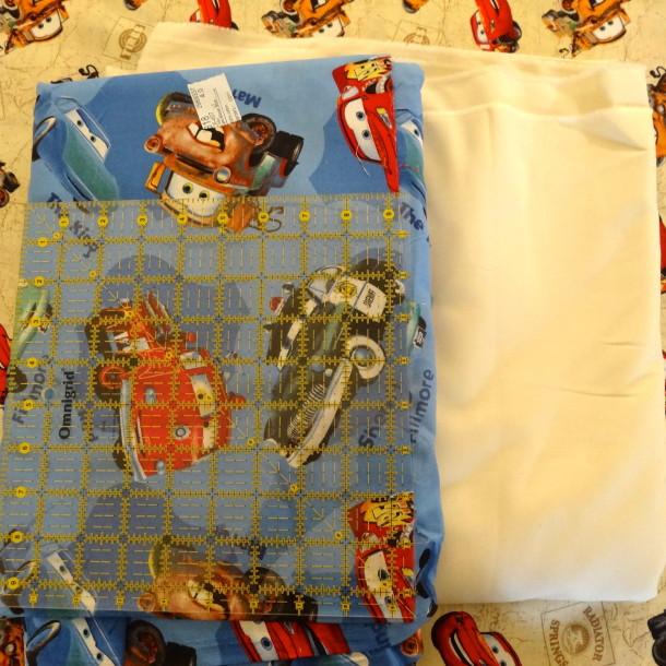 Blue Disney Cars Fabric