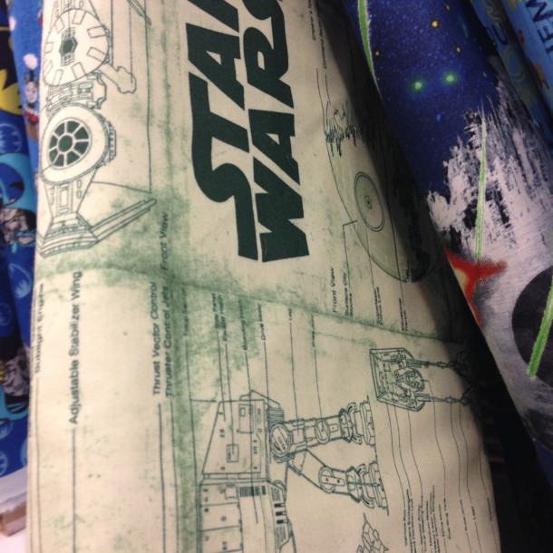 Star Wars Schematic Fabric