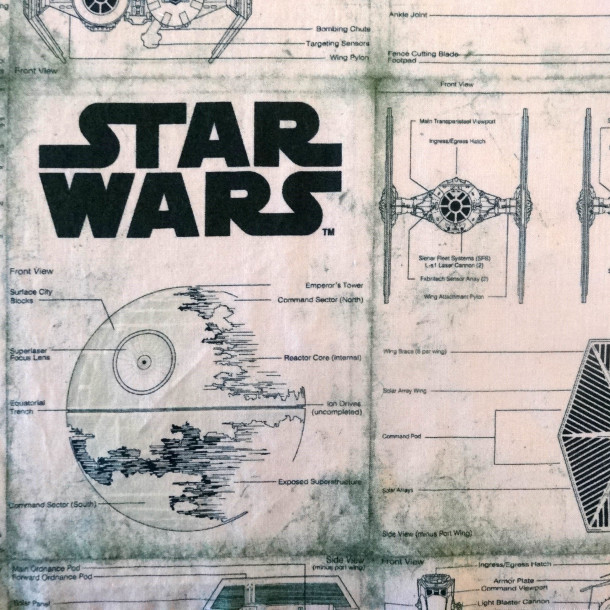 Star Wars Green Fabric
