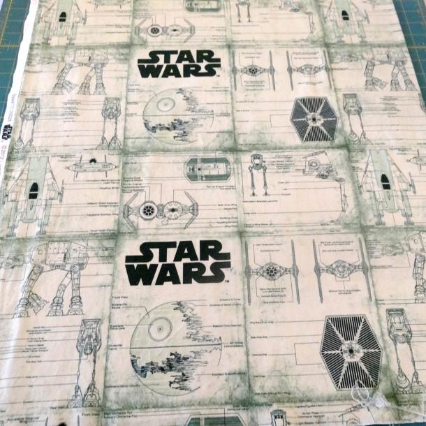 Star Wars Green Fabric - full