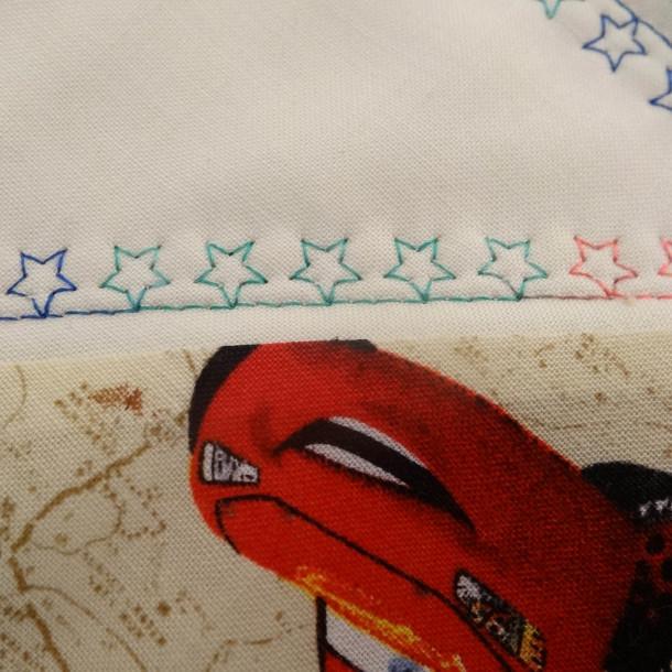close up embroidery stitch