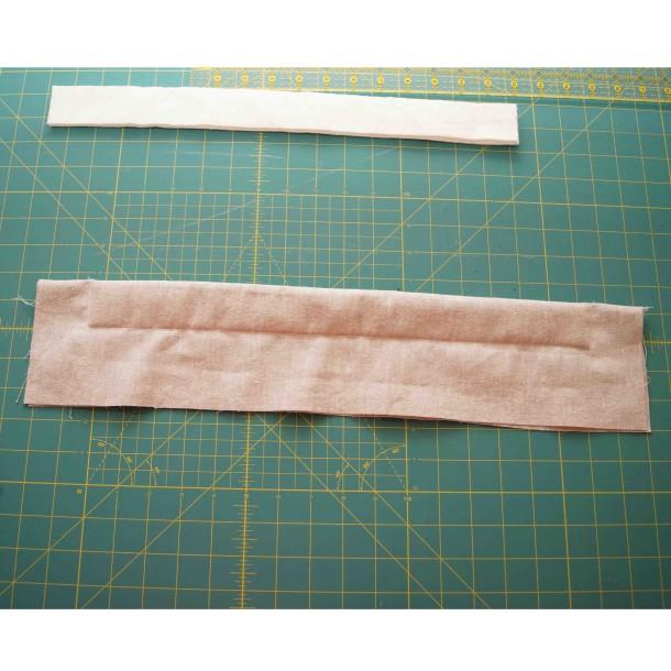 top stitched 1st pad