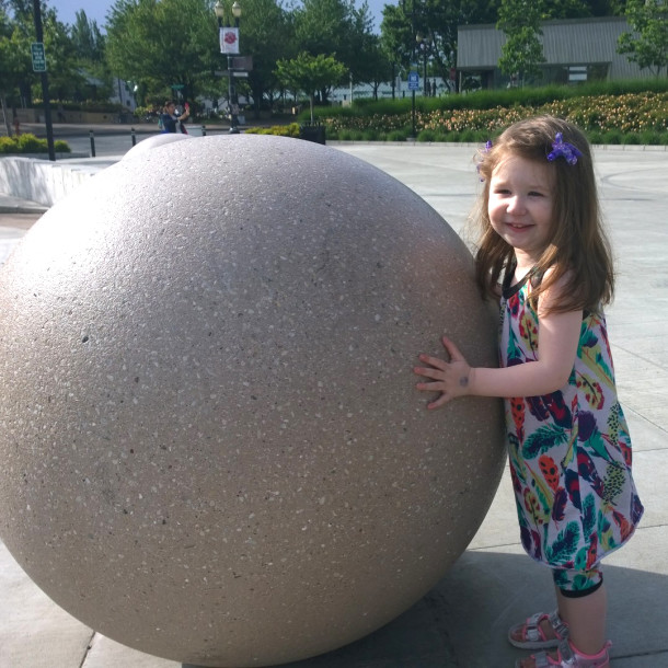 Zoe and the concrete ball