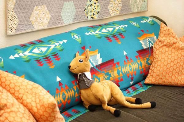 Pendleton Blanket On Sofa
