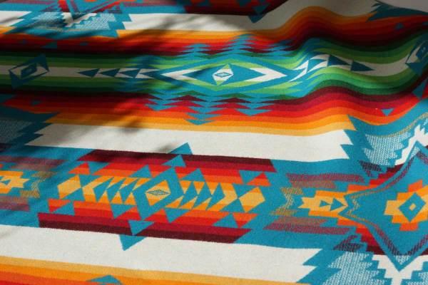 Reverse of Pendleton Teal Wool