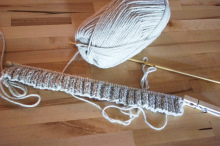 my first knit ribbing