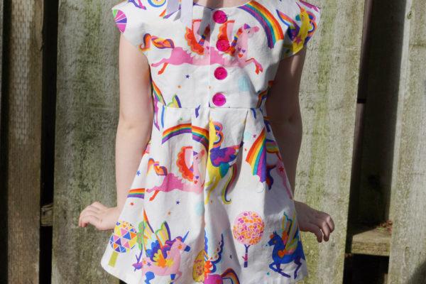 Geranium Dresses in Alexander Henry Fabrics